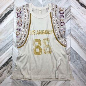 NWT Free People Sequin Jersey Tunic Los Angeles 86